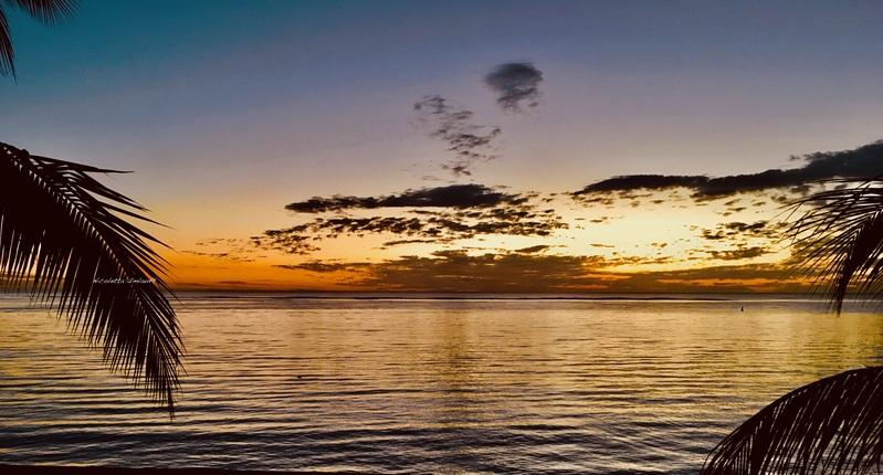 Sunset at the beach Trou aux Biches