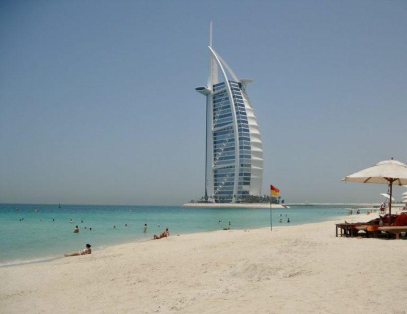 Jumeirah beach and the Burj Al Arab