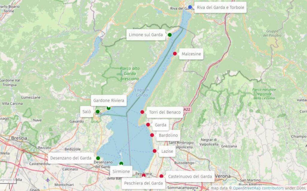 Map Garda Lake